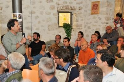 il dottor Ciucci durante l'intervento presso la Riserva  Foto: Riserva Monte Genzana