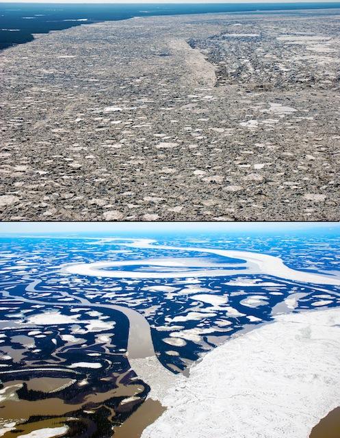 Ghiaccio artico sempre pi sottile lo rivela un fiume artico for Cabine di pesca nel ghiaccio alberta