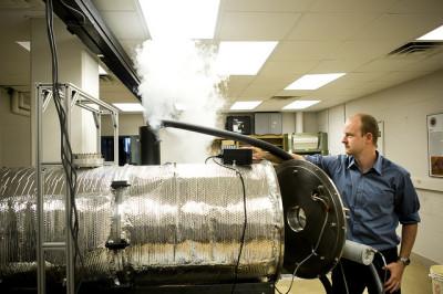 Camera che simula le condizioni su Marte