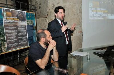Il dottor Michele Fina, Capo della segreteria del Ministero dell'Ambiente  Foto: Riserva Monte Genzana