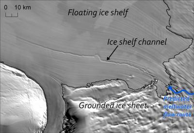 Crediti: MODIS Mosaic of Antarctica (MOA) Image Map / Anne le Brocq.