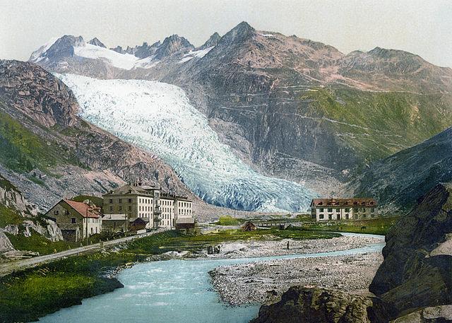 Il ghiacciaio del Rodano un secolo fa (1890-1900)