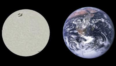 La nana bianca SirioB a confronto con la Terra