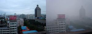 Agosto 2005. Wikipedia riporta un confronto fotografico della stessa zona con e senza smog a Pechino