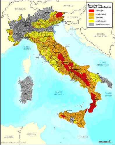 Sul rischio sismico verso l 39 aquila for Rischio sismico in italia