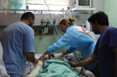 Medici senza Frontiere a Gaza   Crediti: Samantha Maurin/MSF