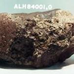Quell'antica roccia proveniente da Marte