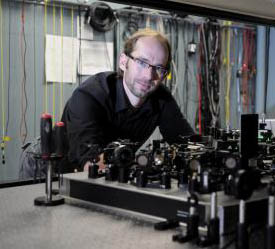 Wolfgang Tittel of the University of Calgary is researching ways of integrating quantum memory with current telecommunication technology. Riley Brandt/University of Calgary