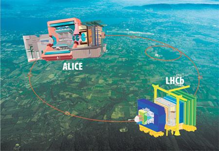 Esperimento ALICE al CERN di Ginevra - fonte CERN
