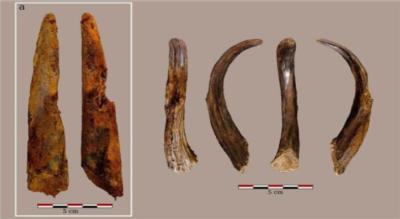 Attrezzi di legno dei Neanderthal nel sito di Aranbaltza, Spagna (crediti: Joseba Rios-Garaizar)