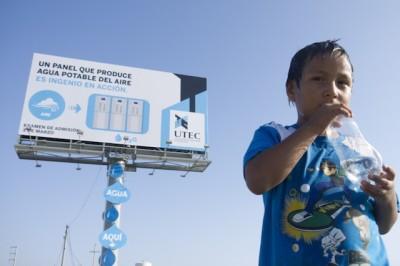 cartelloni pubblicitari e acqua potabile