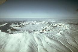 Vista attuale della caldera del vulcano Okmok, in Alaska(foto di repertorio)