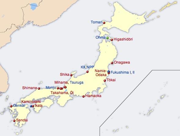 Centrali nucleari in Giappone