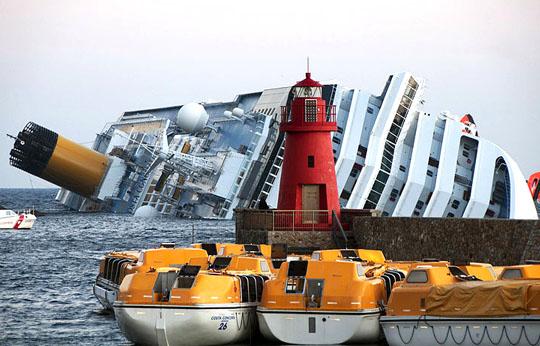 Costa Concordia affondata