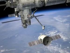 SpaceX Dragon attracca alla ISS. Ricostruzione, crediti: SpaceX