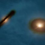 ALMA: osservati dischi protostellari di uno strano sistema binario