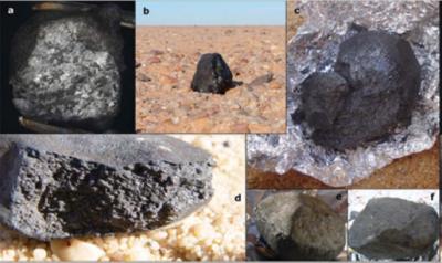 Alcuni frammenti dell'asteroide TC3-2008, meteoriti appartenenti al raro gruppo delle ureiliti