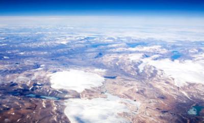 Veduta aerea dell'Isola di Baffin, Canada (crediti: Tyler Olson)