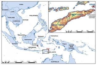 Mappa dell'Isola di Kisar (crediti: ANU)