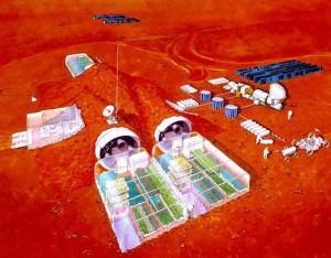 Moduli abitativi su Marte. Crediti: Università di Cagliari, Asi, Crs4