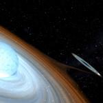 La strana coppia: una stella pulsante e un buco nero