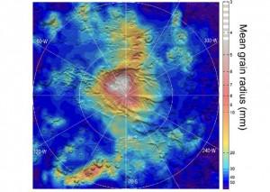 Neve di anidride carbonica su Marte