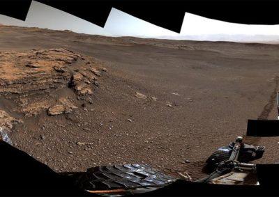 Foto a 360° della sporgenza 'Teal Ridge' su Marte (fonte NASA-JPL-Caltech)