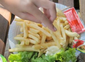 Le patatine fritte sono un classico junk food