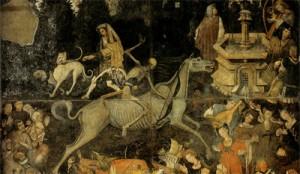 Raffigurazione della grande peste del medioevo