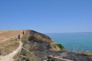 Fuoco nella Riserva Naturale di Punta Aderci (CH): probabile la natura dolosa