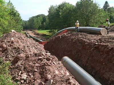 Le tubature che servono a trasportare il gas naturale