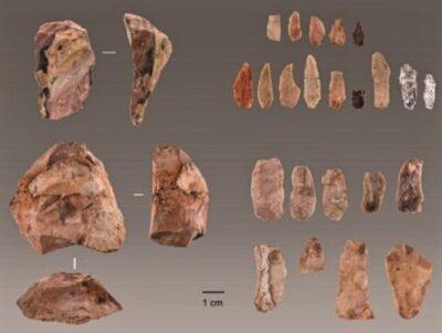 Strumenti in pietra rinvenuti a Lapa do Picareiro, Portogallo (crediti: Jonathan Haws)