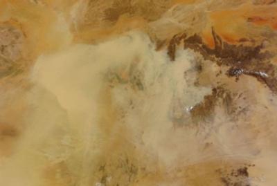 Tempeste di sabbia, venti e precipitazioni sono i principali veicoli di diffusione di virus e batteri sulla Terra (crediti: NASA Visible Earth)