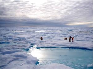 La calotta glaciale artica lascia il posto al mare aperto