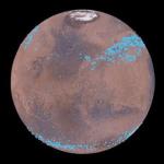 Due cinture di ghiaccio sotto la polvere di Marte